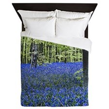 Blue Wildflower Carpet Queen Duvet