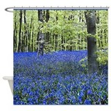 Blue Wildflower Carpet Shower Curtain
