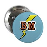 Best Man Lightening Bolt BM Button
