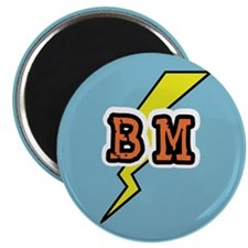 "Best Man Lightening Bolt BM 2.25"" Magnet (10 pack)"