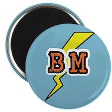Best Man Lightening Bolt BM Magnet