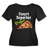 Court Reporter Pizza Women's Plus Size Scoop Neck