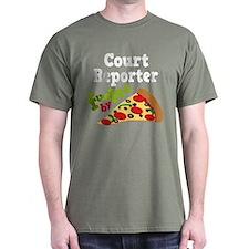 Court Reporter Pizza T-Shirt