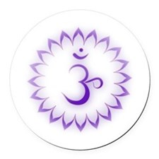 Crown Chakra Round Car Magnet