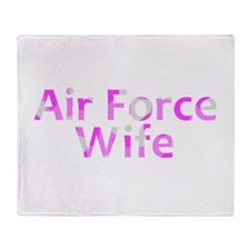 Air Force Wife Pink Camo Throw Blanket