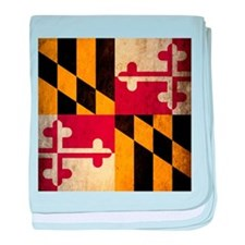Grunge Maryland Flag baby blanket