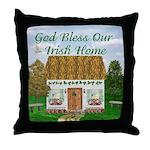'God Bless Our Irish Home' Throw Pillow