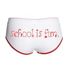 Back To School Women's Boy Brief