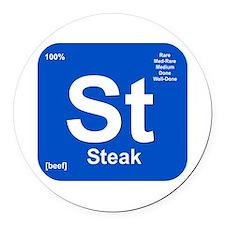 St (Steak) Element Round Car Magnet