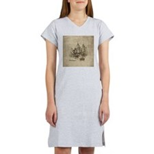 Vintage Michigan Skyline Women's Nightshirt
