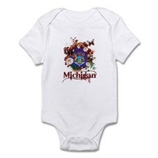Butterflies Michigan Infant Bodysuit
