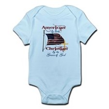 American by Birth Christian By Grace of God Infant