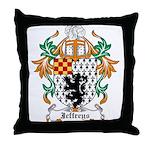 Jeffreys Coat of Arms Throw Pillow