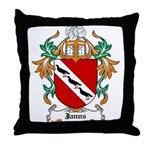 Janns Coat of Arms Throw Pillow