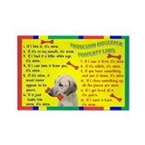 Unique Pet items Rectangle Magnet (100 pack)
