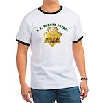 Border Patrol Badge Ringer T
