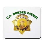 Border Patrol Badge Mousepad