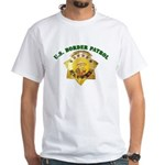 Border Patrol Badge White T-Shirt