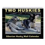 &quot;Two Huskies&quot; Wall Calendar