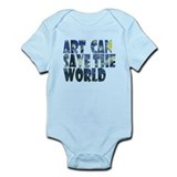 art can save the world Infant Bodysuit