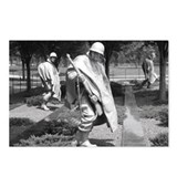 korean war memorial veterans statues Postcards (Pa