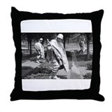 korean war memorial veterans statues Throw Pillow