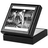 korean war memorial veterans statues Keepsake Box