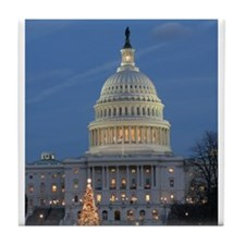 US Capitol Building celebrates Christmas Tile Coas