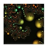 Golden Pearls Fractal Art Tile