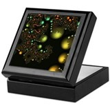 Golden Pearls Fractal Keepsake Box