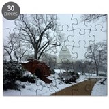 US Capitol Building Snow Photo Puzzle