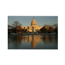 US Capitol Building Sunset Rectangle Magnet