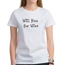 Will Run for Wine TM Tee