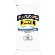 SF Sniper CIB Airborne Senior Banner