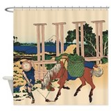 Hokusai Senju Musashi Province Shower Curtain