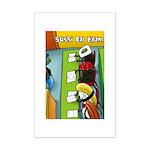 Sushi Bar Exam (Raw Law?) Mini Poster Print