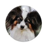 Papillon Art Gifts Ornament (Round)