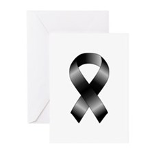 Black Ribbon Greeting Cards (Pk of 20)