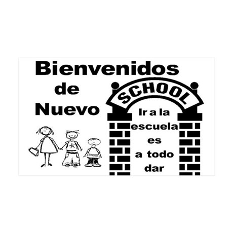 Back to Cool School SPANISH 35x21 Wall Decal