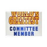 World's Greatest Committee member Rectangle Magnet