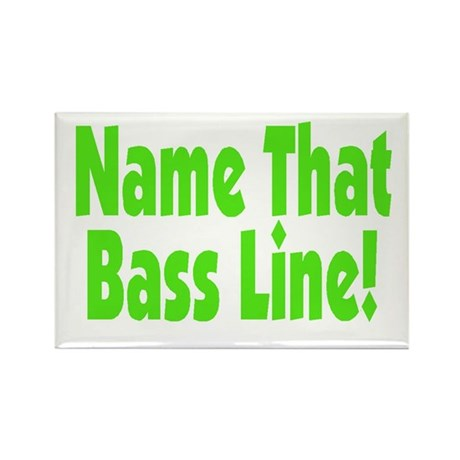 Name That Bass Line Green Logo Rectangle Magnet by listing ...