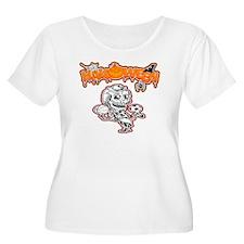 Booby Trap Women's Plus Size V-Neck Dark T-Shirt