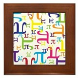 Pieces of Pi Framed Tile