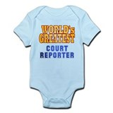 World's Greatest Court Reporter Infant Bodysuit