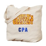 World's Greatest CPA Tote Bag