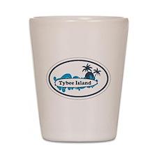 Tybee Island GA - Oval Design. Shot Glass