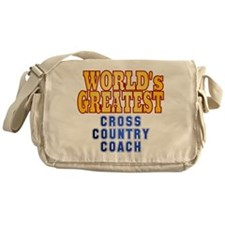 World's Greatest Cross Country Coach Messenger Bag