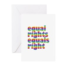 rainbow equal rights Greeting Cards (Pk of 20)