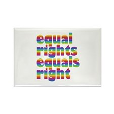 rainbow equal rights Rectangle Magnet (100 pack)