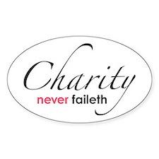 Chartiy Never Faileth Oval Decal